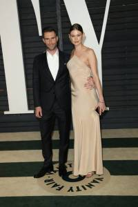Adam Levine and Behati Prinsloo Vanity Fair Oscars 2015 After Party