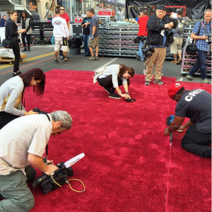 Carpet Laying The Oscars - 87th Annual Academy Awards 2015