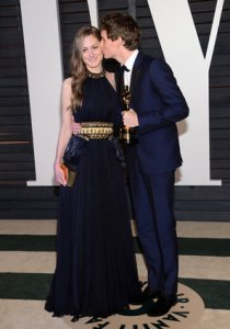 Eddie Redmayne and wife Vanity Fair Oscars 2015 After Party