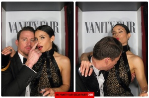 Channing Tatum and Jenna Dewan-Tatum Oscars 2015 Vanity Fair After Party Photo Booth