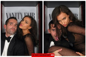 Ryan Brown and Irina Shayk Oscars 2015 Vanity Fair After Party Photo Booth
