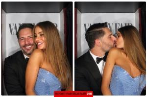 Sofia Vergara and Joe Manganiello Oscars 2015 Vanity Fair After Party Photo Booth
