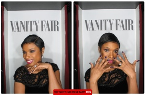 Jennifer Hudson Oscars 2015 Vanity Fair After Party Photo Booth