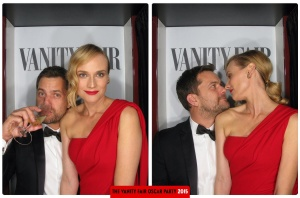 Joshua Jackson and Diane Kruger Oscars 2015 Vanity Fair After Party Photo Booth
