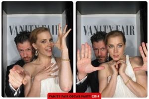 Amy Adams and Darren Le Gallo Oscars 2015 Vanity Fair After Party Photo Booth