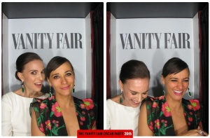 Natalie Portman and Rashida Jones Oscars 2015 Vanity Fair After Party Photo Booth