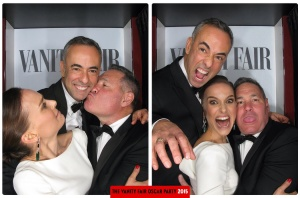 Natalie Portman, Francisco Costa and John DeStefano Oscars 2015 Vanity Fair After Party Photo Booth