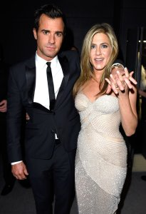 Jennifer Aniston and Justin Theroux Vanity Fair Oscars 2015 After Party