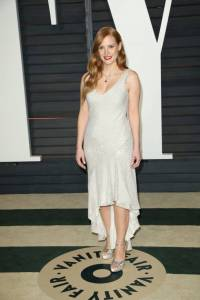 Jessica Chastain Vanity Fair Oscars 2015 After Party