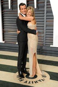 Justin Theroux and Jennifer Aniston Vanity Fair Oscars 2015 After Party
