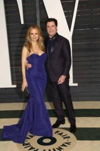 Kelly Preston and John Travolta Vanity Fair Oscars 2015 After Party
