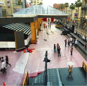 Preparation Red Carpet The Oscars - 87th Annual Academy Awards 2015