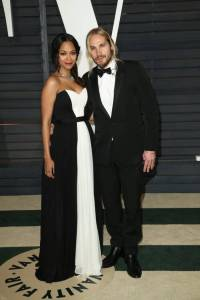 Zoe Saldana and Marco Perego Vanity Fair Oscars 2015 After Party