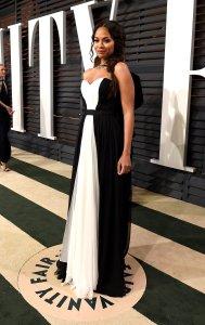 Zoe Saldana Vanity Fair Oscars 2015 After Party