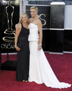 Charlize Theron and mom Gerda Maritz Oscars Red Carpet
