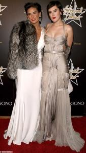 Demi Moore and Rumer Willis Red Carpet