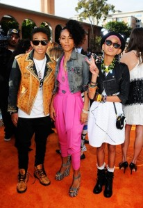 Jada Pinkett Smith Jaden Smith and Willow Smith Daughter and Son Red carpet