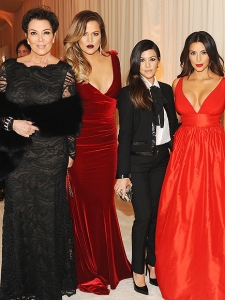 Kris Jenner Kim Kardashian Kourtney Kardashian and Khloe Kardashian Red Carpet