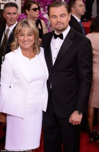 Leonardo Dicaprio and Mom irmelin indenbirken Red carpet