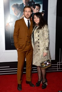 Ryan Gosling and Mother Donna Gosling at Gangster Squad Premiere LA Red Carpet