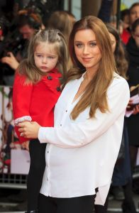 Una Foden and Daughter Aoife Belle Red Carpet