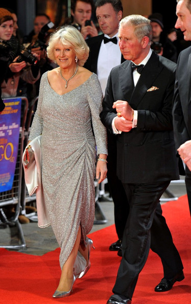 Prince Charles of Wales and Duchess of Cornwall Camilla at the Hugo Premiere in London