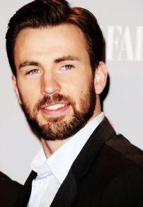 Chris Evans with a beard