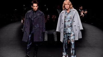 Ben Stiller and Owen Wilson walk runway at Paris Fashion Week to announce Zoolander 2.