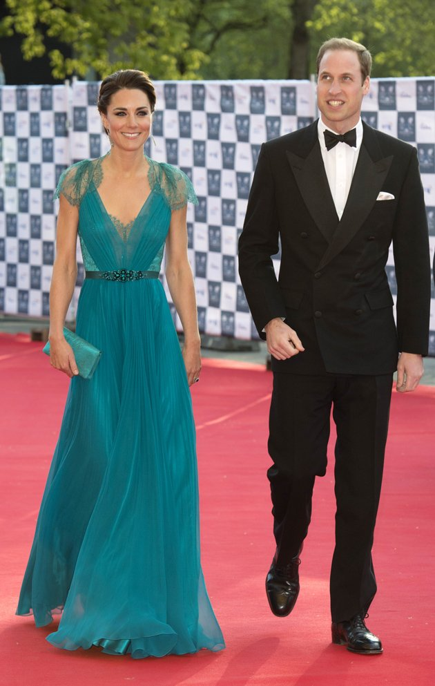 Duke and Duchess of Cambridge, Prince William and Kate Middleton at the London Olympic Gala Concert in 2012