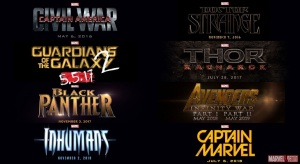 Marvel Cinematic Universe Phase Three Movie Lineups - Captain America: Civil War, Inhumans, Captain Marvel, Guardians of the Galaxy 2, Thor Ragnarok