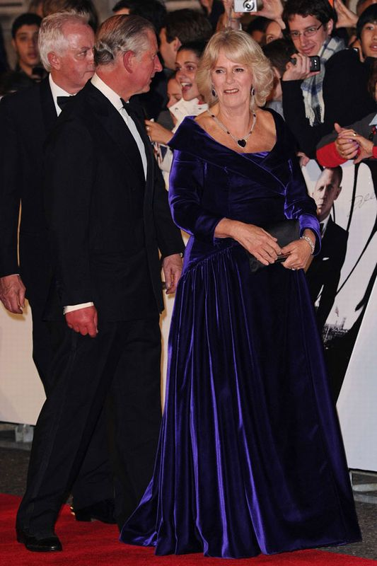 Prince Charles of Wales and Duchess of Cornwall, Camilla - Skyfall Premiere 2012