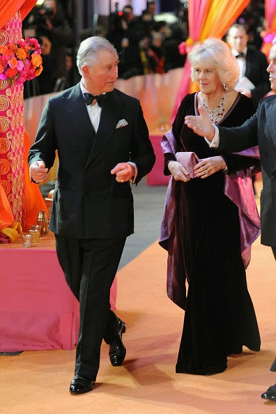 Prince Charles of Wales and Duchess of Cornwall, Camilla - Second Best Exotic Marigold Hotel Premiere 2015