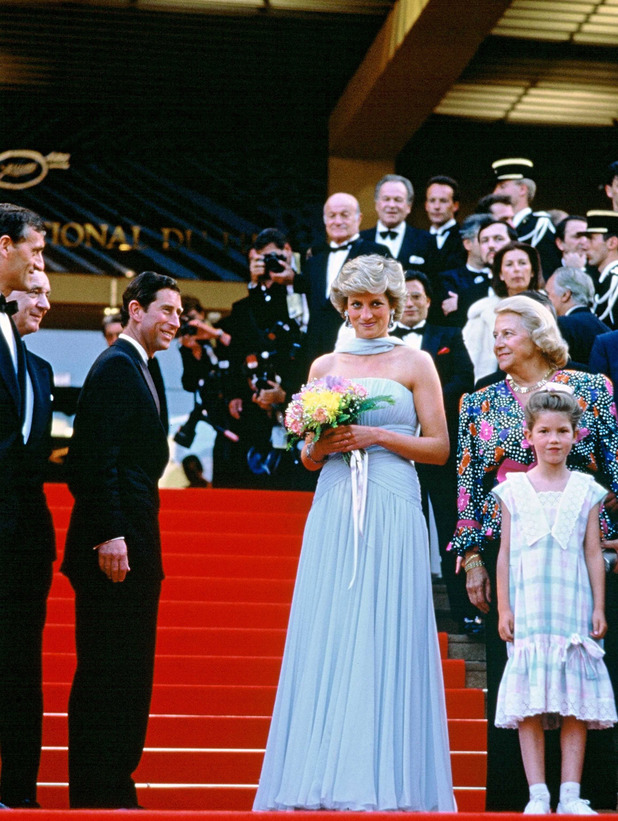Prince Charles and Princess Diana at the Cannes Film Festival 1987