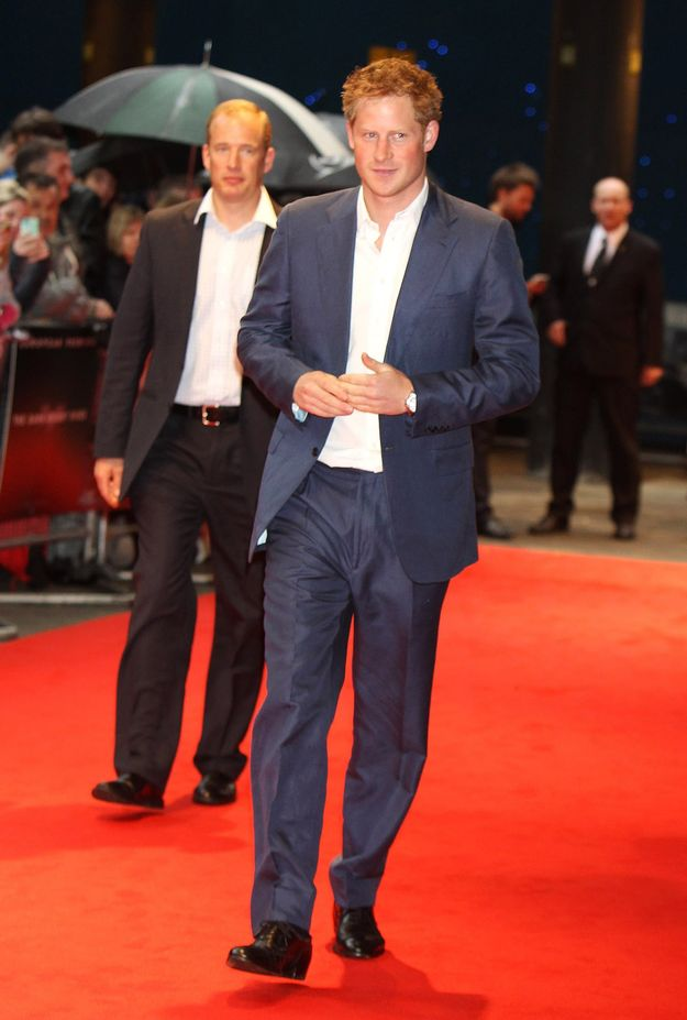 Prince Harry at The Dark Knight Rises premiere 2012