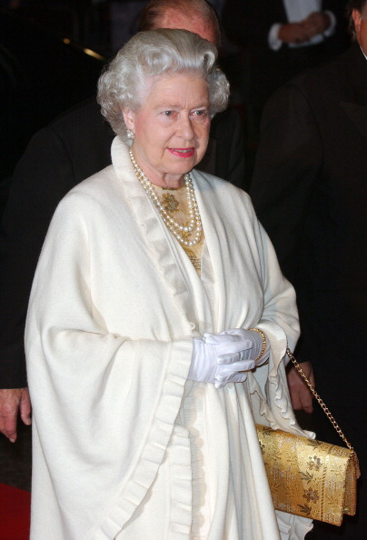 Queen Elizabeth at the James Bond Die Another Day premiere 2002