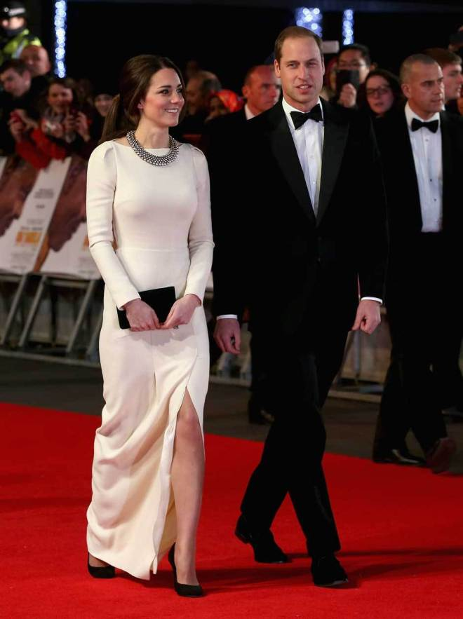 Duke and Duchess of Cambridge, Prince William and Kate Middleton at the 'Mandela Long Walk of Freedom' premiere in London on the Red Carpet 2013