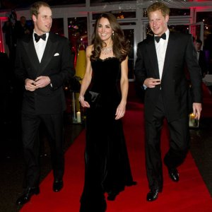 Duke and Duchess of Cambridge, Prince William and Kate Middleton and Prince Harry at the Sun Military Awards 2011